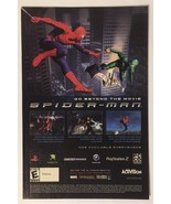 Spider-man The Movie Playstation Gamecube Video Game Ad 2002 Comic Adver... - $12.86