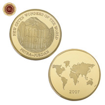 WR Petra - Jordan New Seven Wonders 24K Gold Coin Commemorative Medal Co... - $3.50