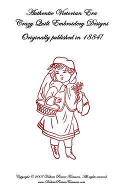 1884 Victorian Quilt Book Patchwork Embroidery Designs DIY Art Neuveau Crafts