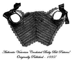 1885 Victorian Baby Bib Crochet Pattern DIY Edwardian Historical Reenact... - $4.99