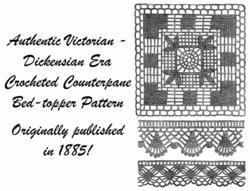1885 Victorian Counterpane Quilt Crochet Pattern DIY Historical VillageReenactor