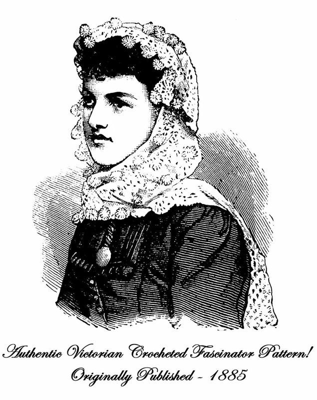 1885 Victorian Fascinator Shawl Crochet Pattern DIY Historic Village Reenactment