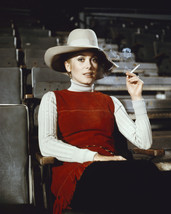 Catherine Deneuve enjoying cigarette in theatre seat floppy hat 11x14 Photo - $14.99