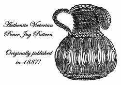 1887 Victorian Pence Jug Crochet Pattern DIY Historical VillageReenactment Purse