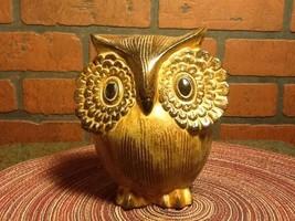 Vintage OMC Japan Ceramic Owl Figurine - Big Ey... - $32.85