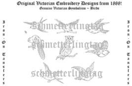 1888 Victorian Embroidery Iron-0n Transfer Patterns Birds DIT Designs Arts Craft - $4.99