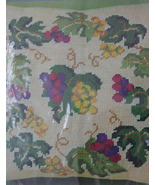 "Needlepoint Pillow Kit ""Grapevine""  Backing & Pillow form not included - $29.99"