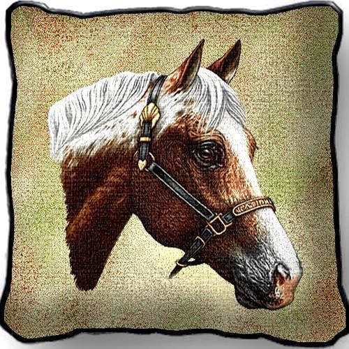 "17"" Large APPALOOSA HORSE Pillow Cushion Tapestry"