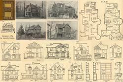 1889 Antique Victorian Houses Architect House Floor Plans CD DIY Home Carpentry