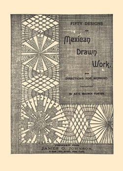 1889 Victorian Mexican Drawn Thread Work Book DIY Needlework Lace Patterns Laces