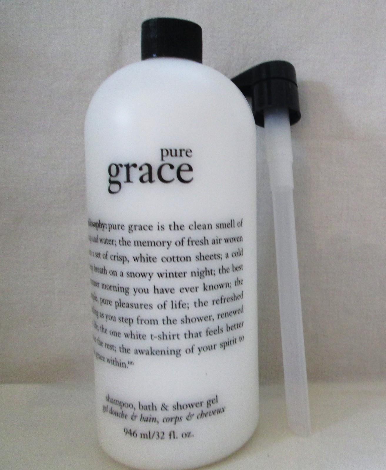 Philosophy Pure Grace Shampoo, Bath & Shower Gel 32 oz Supersize W/Pump