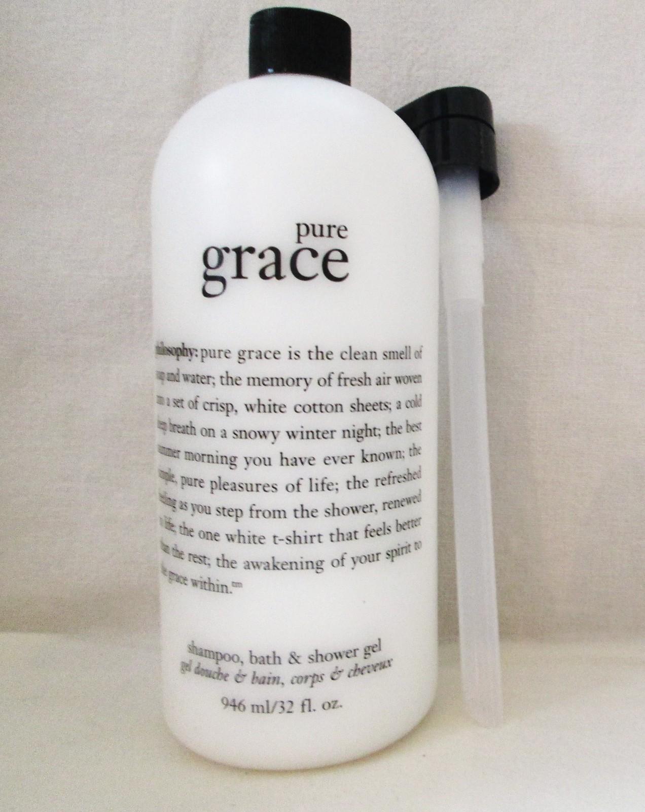 Philosophy Pure Grace Shampoo, Bath & Shower Gel 32 oz Supersize W/Pump image 4