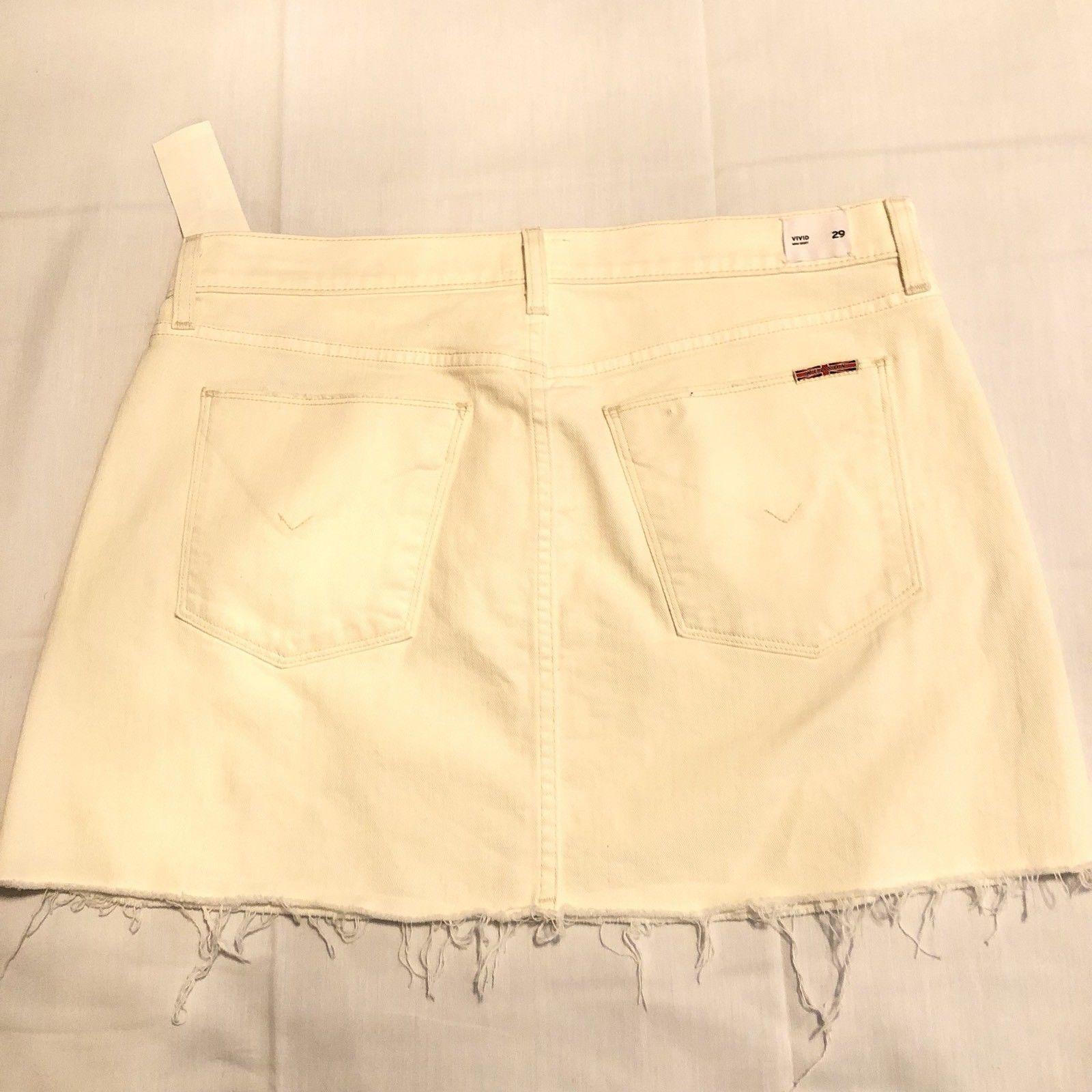 Hudson Jeans Vivid Mini Skirt with Raw Hem Womens 28 NWT Cream