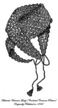 1896 Victorian Crochet Crossover Wrap Pattern Historical Village Reenact... - $4.99