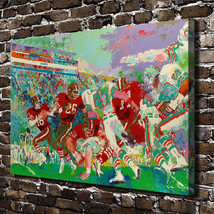 "Leroy Neiman ""Football Game"" HD Print on canvas large wall picture 34x24"" - $48.51"