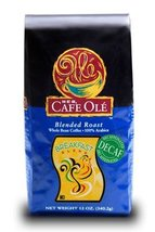 HEB Cafe Ole Whole Bean Coffee 12oz Bag (Pack of 3) (Decaf Breakfast Blend - Med - $34.62