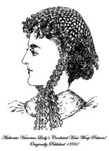 1896 Victorian Ladys Hat Cap Crochet Pattern DIY Historic Village Reenac... - $4.99