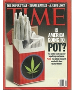 "TIME MAGZINE NOV. 04,2002 "" IS AMERICA GOING TO POT "" - $19.95"