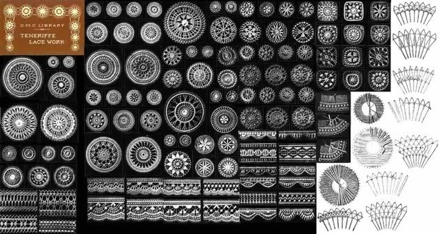 1900 Teneriffe Lace Book Patterns Designs DIY Sol Mexican Reenactment Laces
