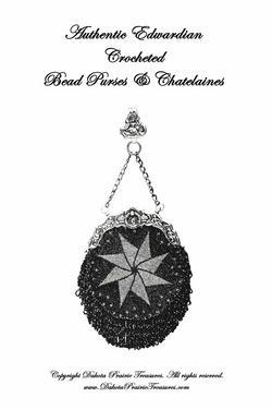 1901 Victorian Edwardian Gibson Girl Era Beaded Purse Pattern Book Bags Purses
