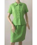 CHRISTIAN DIOR Vintage Green 2 Piece Skirt Suit Set (Size 10P) - $299.95