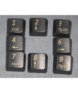 Old Keyboard Number Keys Home End x8 Altered Ar... - $3.00