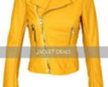 Yellow women leather jacket logo 1 m thumb155 crop