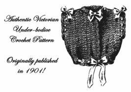 1901 Victorian Edwardian Tricot Crochet Bodice Pattern DIY Historic Reenactment - $4.99