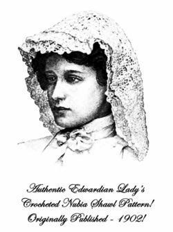 1902 Edwardian Nubia Shawl Crochet Pattern DIY Historical Reenactment Headdress