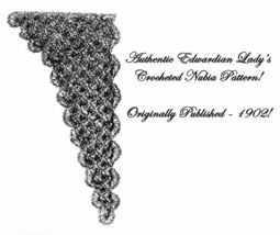 1902 Edwardian Nubia Shawl Pattern DIY Historical Reenactment Headdress Scarf 2 - $4.99