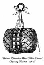 1904 Victorian Art Nouveau Gibson Girl Thread Holder Pattern Crochet DIY... - $4.99