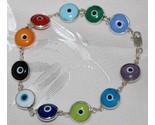 Bracelet evil eye ss multi color chain thumb155 crop
