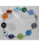 Multi Colors Evil Eye Glass Bead Bracelet - $15.95