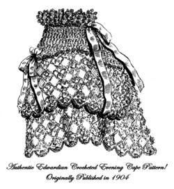 1904 Victorian Edwardian Art Nouveau Opera Cape Crochet Pattern DIY Gibson Girl5