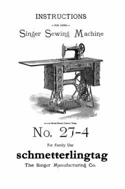 1906 Singer Treadle Sewing Machine Attachments Use Guide Book 27-4 Parts Numbers