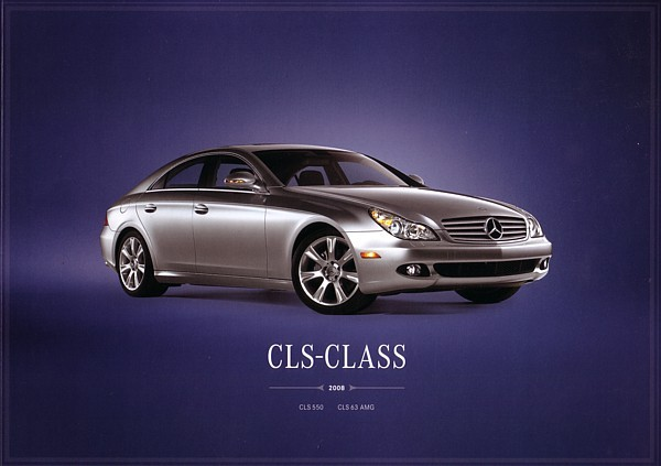2008 Mercedes-Benz CLS-CLASS brochure catalog 550 CLS63 AMG