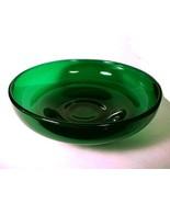 Cambridge Elegant Glass Emerald Green 7 inch Low Bowl Depression Dish  - $19.95