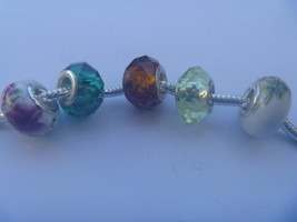 5 charms lampwork murano glass pandora style FREE POSTAGE WORLD - $6.93