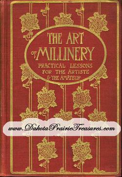 1909 MILLINERY Book Gibson Girl Hat Making Lessons YUSUF Milliner DIY Make Hats