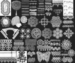 1910 Edwardian Era Tatting Book Crochet Lace Patterns Shuttle Tatted Lacemaker