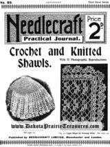 1910 Edwardian Needlecraft Book Crochet Knit Shawl Patterns DIY Reenactment Wrap - $9.99
