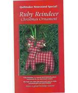 Ruby Reindeer Christmas Ornament Pattern - Sew Cute! - $6.99
