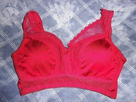 Size L Rhonda Shear Retro Pin-Up Wireless Bra with Removable Pads 676 - $14.88