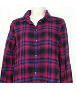 American Eagle Outfitters Amazingly Soft Boyfriend Flannel Shirt Size XS... - $19.79