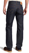NEW LEVI'S MEN'S SHRINK TO FIT STRAIGHT LEG JEANS BUTTON FLY INDIGO 501-0000