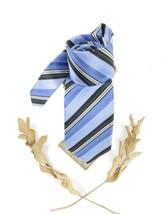 Ron Chereskin Men Blue Gray Tie Necktie Stripe Classic Office Look NWOT - $23.97