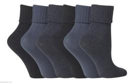 6 Pairs Ladies Jennifer Anderton Soft Turn Over Socks 4-8 uk 37-42 Eur Dark Blue - $13.97
