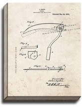 Sickle Patent Print Old Look on Canvas - $69.95+
