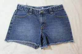 Old Navy Girls Shorts Size 10.5 Denim Blue Jeans Butterfly Embroidered P... - $19.79