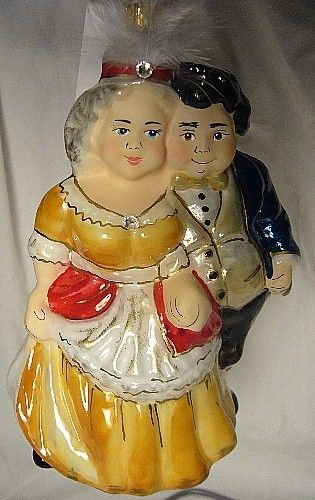 Vaillancourt Folk Art Fezziwigs Dancing Couple Charles Dickens A Christmas Carol